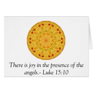 Cartão Há uma alegria na presença dos anjos. - Luke