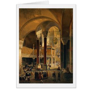 Cartão Haghia Sophia, placa 8: a galeria e o b imperiais