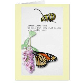 Cartão Haicais da borboleta