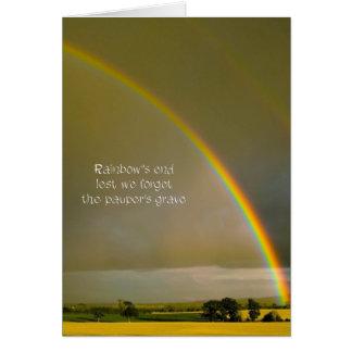 Cartão Haicais do arco-íris