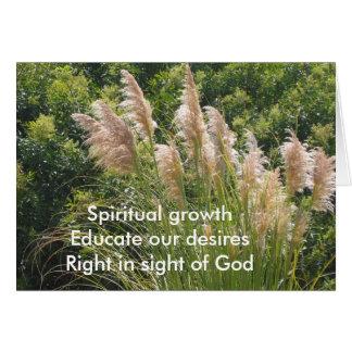 Cartão Haicais espirituais do crescimento