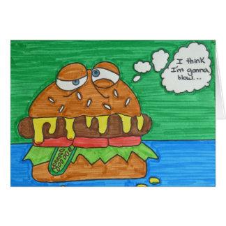 Cartão Hamburger dos desenhos animados