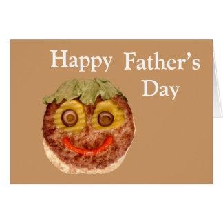 Cartão Hamburger feliz