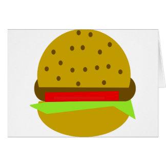 Cartão Hamburguer do fast food da comida do Hamburger