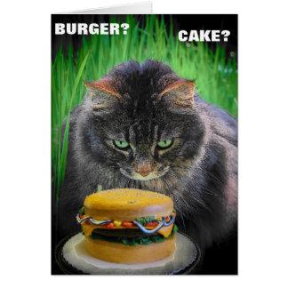 Cartão Hamburguer ou bolo para seu aniversário?