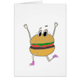 Cartão hamburguer running