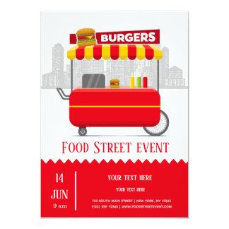 Cartão Hamburgueres da rua da comida