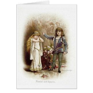 Cartão Hamlet e Ophelia,