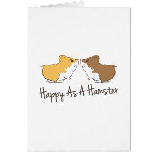 Cartão Hamster feliz