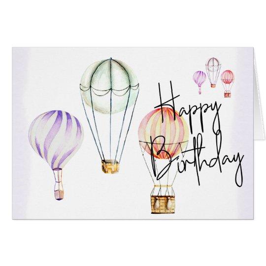 Cartão Hand Made Card Balloon - Happy Birthday