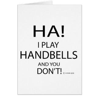 Cartão Handbells do Ha