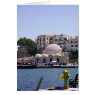 Cartão Hania, porto interno de Crete