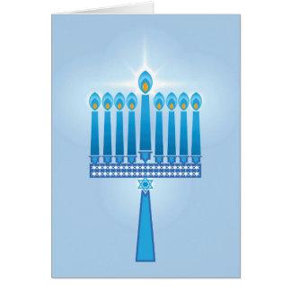 Cartão Hanukkah Candles a estrela de David