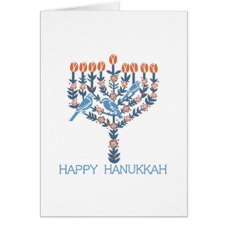 Cartão Hanukkah feliz