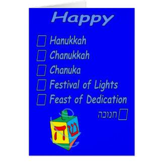 Cartão Hanukkah feliz… contudo você período ele