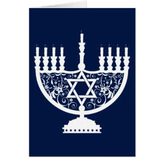 Cartão Hanukkah Menorah