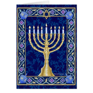 Cartão Hanukkah Menorah Notecard