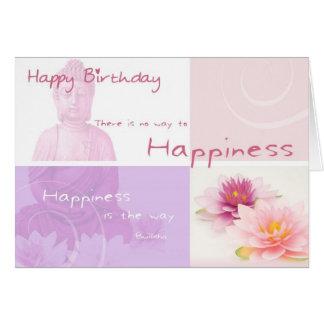 Cartão Happy Birthday Buddah