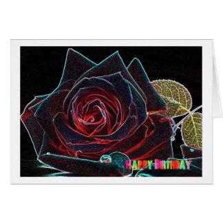 Cartão Happy Birthday Card with rose