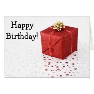 Cartão Happy Birthday Card with veneno and estrela