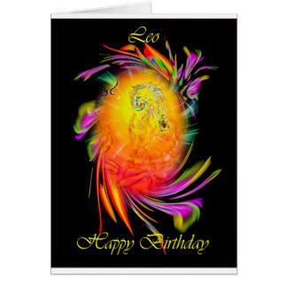 Cartão Happy Birthday Leo