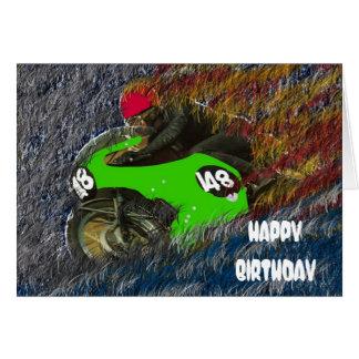 CARTÃO HAPPY BIRTHDAY MOTORCYCLE MOTO