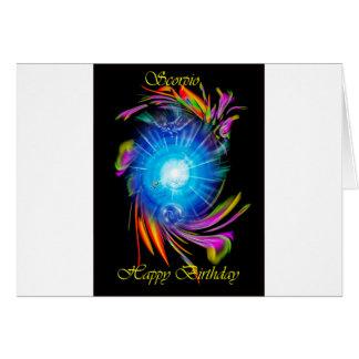 Cartão Happy Birthday Scorpio