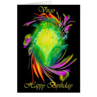 Cartão Happy Birthday Virgo - virgem