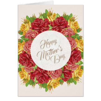 Cartão Happy Mother's Day Cart Flowers