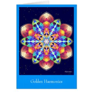 Cartão Harmónicos dourados