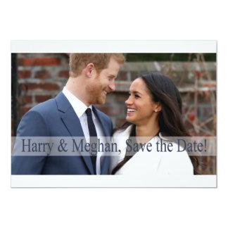 Cartão Harry & Meghan, salvar a data!