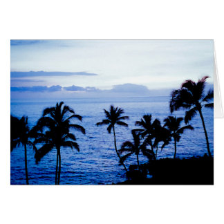 Cartão Havaí no azul