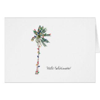 Cartão havaiano do Natal de Mele Kalikimaka