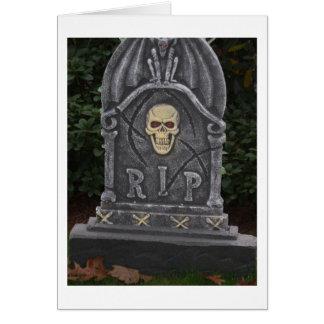 Cartão Headstone de R.I.P - fotografia