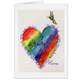 Cartão Heartwishes com borboleta amarela