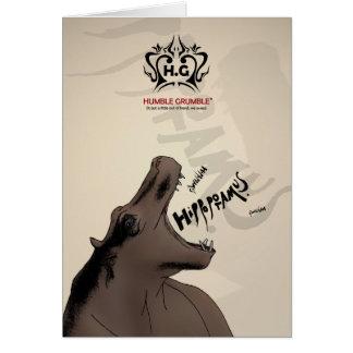 Cartão Hectograma. a sociedade operático do hipopótamo