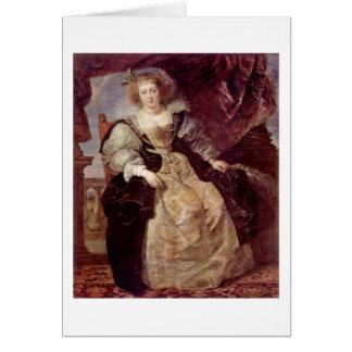 Cartão Helene Fourment no vestido de casamento por Paul