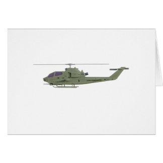 Cartão Helicóptero de Apache no perfil da vista lateral