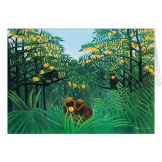 Cartão Henri Rousseau os trópicos