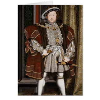 Cartão Henry o oitavo retrato