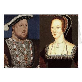 Cartão Henry VIII e Anne Boleyn