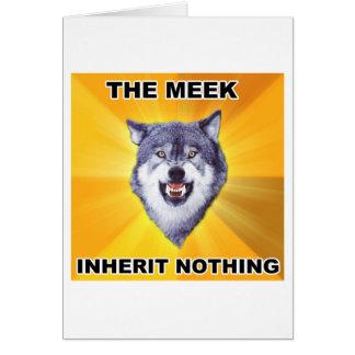 Cartão Herança manso do lobo da coragem