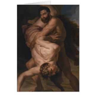 Cartão Hercules e Antaeus, 1828