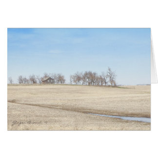 Cartão Herdade abandonada da pradaria em North Dakota #1