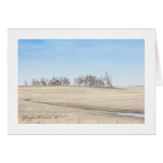 Cartão Herdade abandonada da pradaria em North Dakota #1B