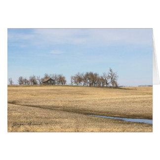 Cartão Herdade abandonada da pradaria em North Dakota #2