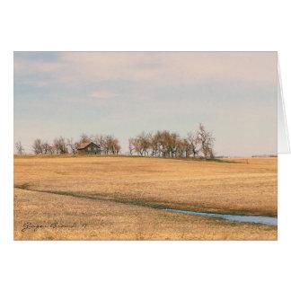Cartão Herdade abandonada da pradaria em North Dakota #3