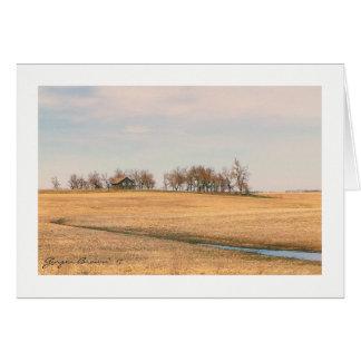 Cartão Herdade abandonada da pradaria em North Dakota #3B