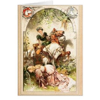 Cartão Hermann Vogel - menina do ganso