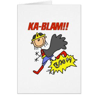 Cartão Herói da menina de Blam do Ka